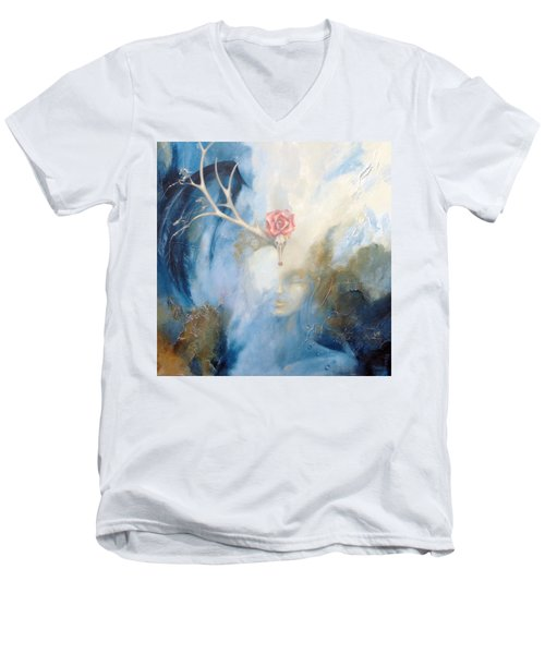 Priestess Men's V-Neck T-Shirt by Dina Dargo