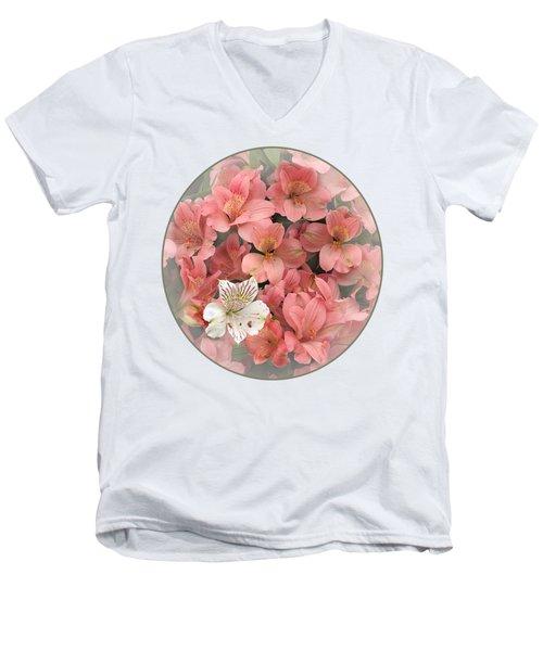 Prima Donna - Alstroemeria Men's V-Neck T-Shirt by Gill Billington