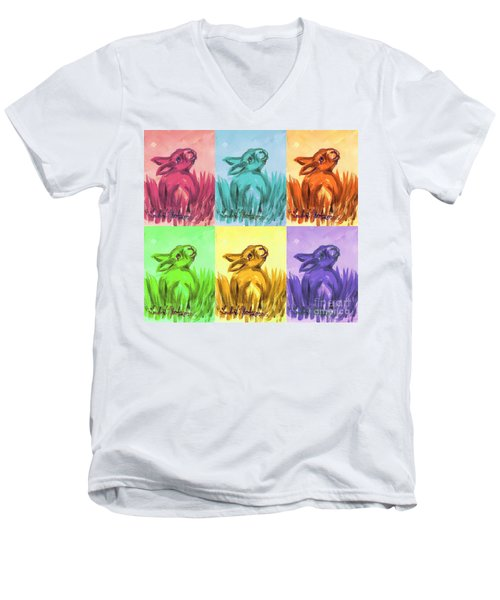 Primary Bunnies Men's V-Neck T-Shirt