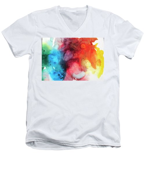 Primary Colors Men's V-Neck T-Shirt