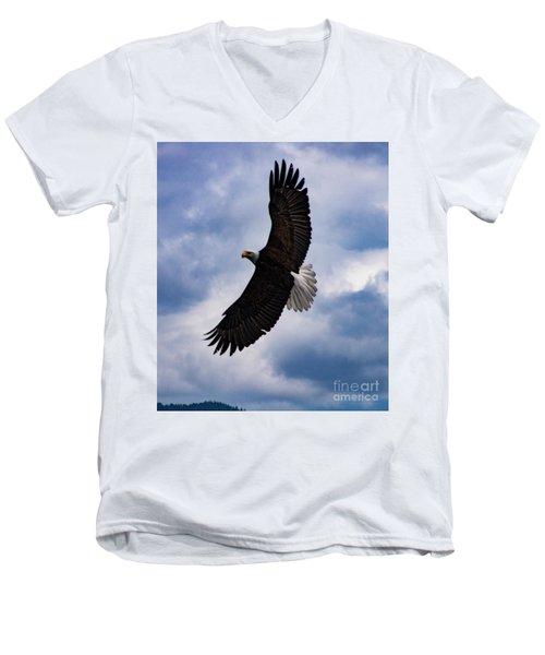 Prince Rupert Soaring Eagle Men's V-Neck T-Shirt