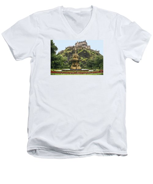 Princes Street Gardens Men's V-Neck T-Shirt