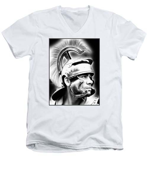 Profile Of A Trojan Hero Men's V-Neck T-Shirt