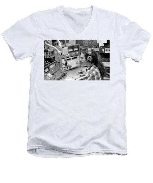 Progressive Rock Disc Jockey, 1975 Men's V-Neck T-Shirt
