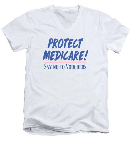 Protect Medicare Men's V-Neck T-Shirt
