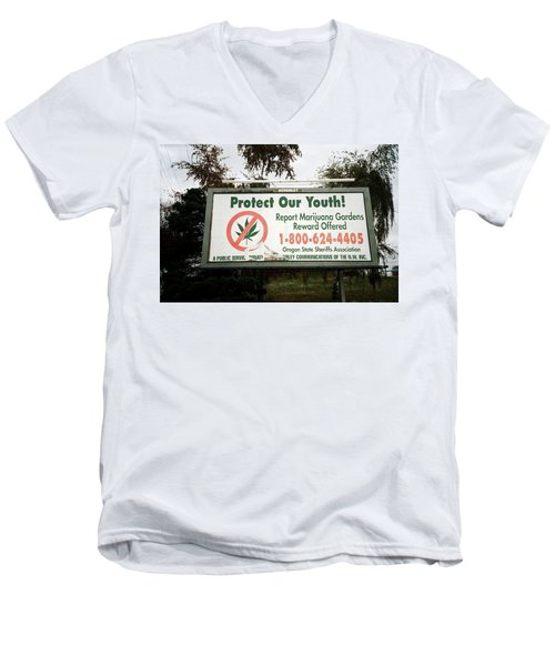 Protect Our Youth Men's V-Neck T-Shirt