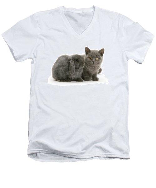 Proud Of My Grey Hare Men's V-Neck T-Shirt
