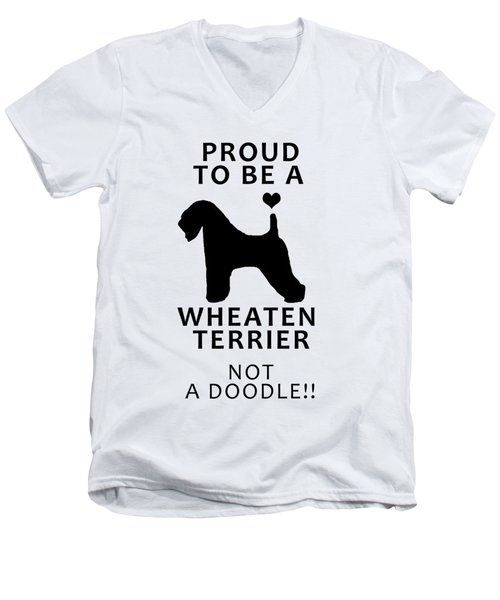 Proud To Be A Wheaten Men's V-Neck T-Shirt