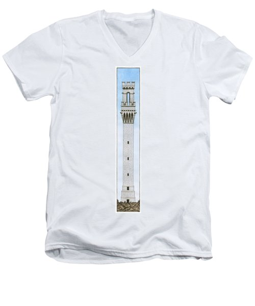 Provincetown Pilgrim Monument Men's V-Neck T-Shirt