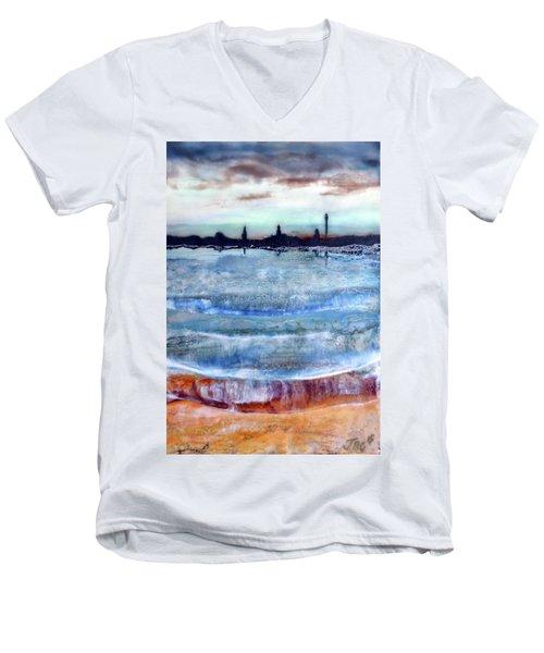 Provincetown Skyline 1 Men's V-Neck T-Shirt