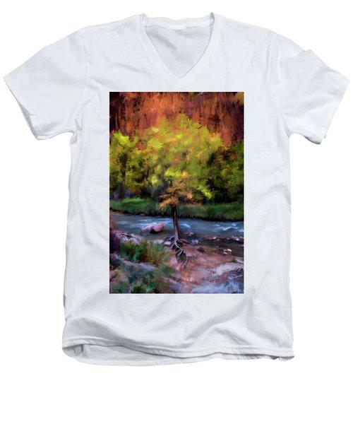 Psalm 1 Men's V-Neck T-Shirt by Annette Berglund