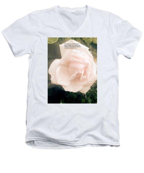 Psalm 23 Men's V-Neck T-Shirt