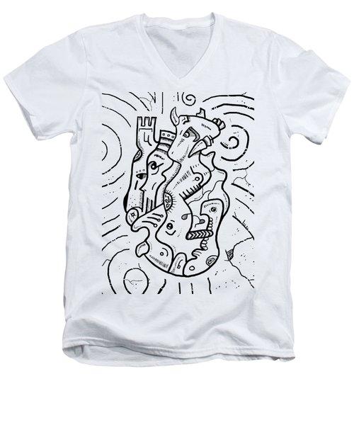 Psychedelic Animals Men's V-Neck T-Shirt