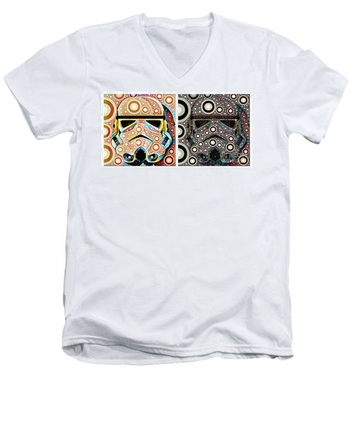 Psychedelic Binom Men's V-Neck T-Shirt