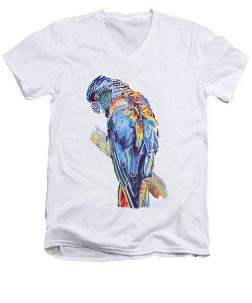 Psychedelic Parrot Men's V-Neck T-Shirt