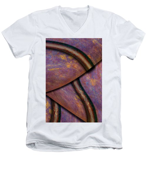 Men's V-Neck T-Shirt featuring the photograph Psychedelic Pi by Paul Wear