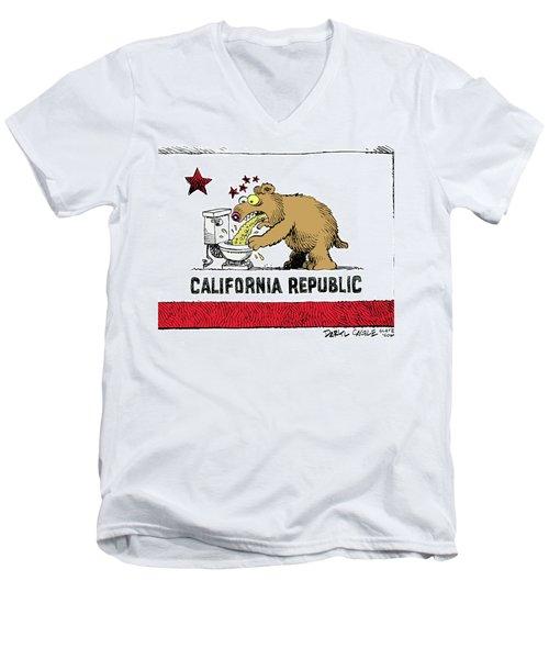 Puke Politics Men's V-Neck T-Shirt