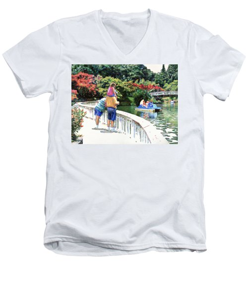 Pullen Park Men's V-Neck T-Shirt