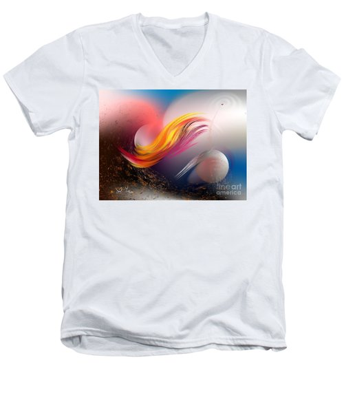 Pulsar Men's V-Neck T-Shirt by Leo Symon