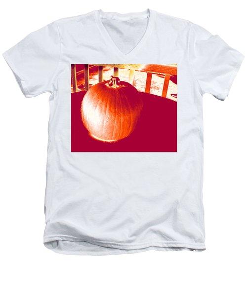 Pumpkin #1 Men's V-Neck T-Shirt