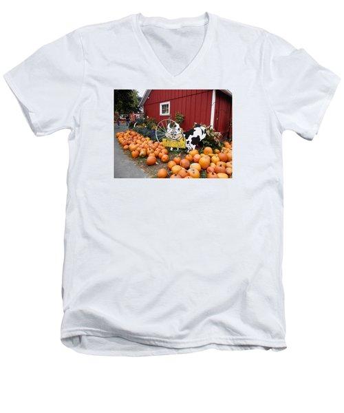 Pumpkin Farm Men's V-Neck T-Shirt
