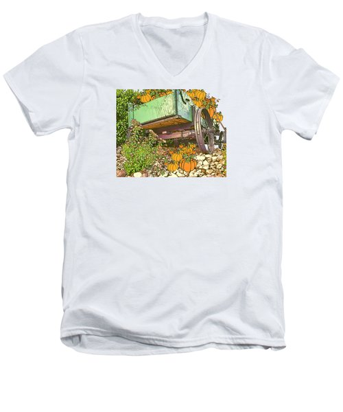Pumpkin Harvest Men's V-Neck T-Shirt