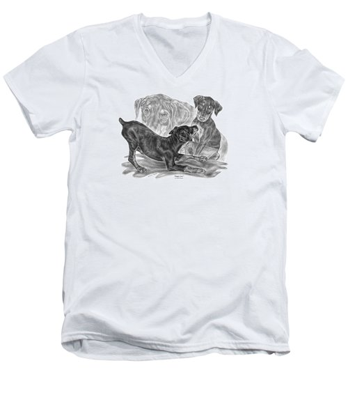 Puppy Love - Doberman Pinscher Pup Men's V-Neck T-Shirt