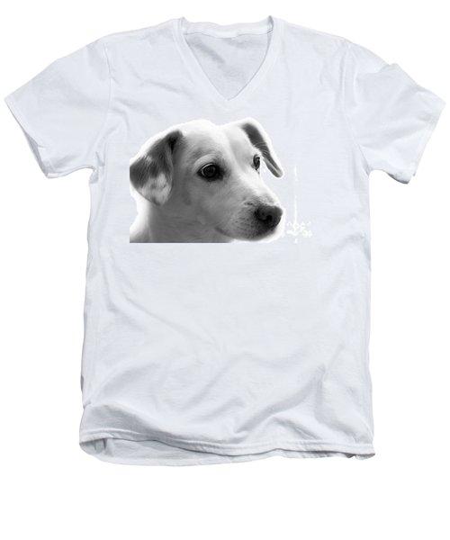 Puppy - Monochrome 4 Men's V-Neck T-Shirt