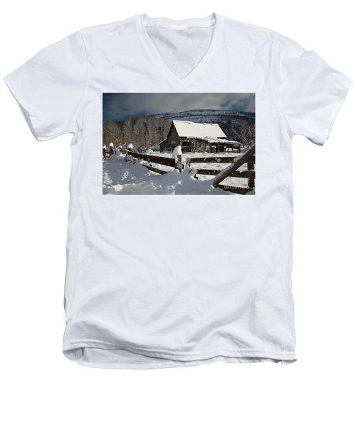 Purcell Mtn Barn Men's V-Neck T-Shirt