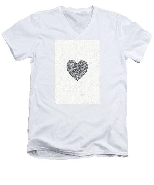 Pure Love Men's V-Neck T-Shirt by Linda Prewer