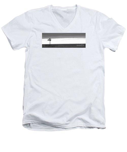 Pure Prairie Windmill Men's V-Neck T-Shirt