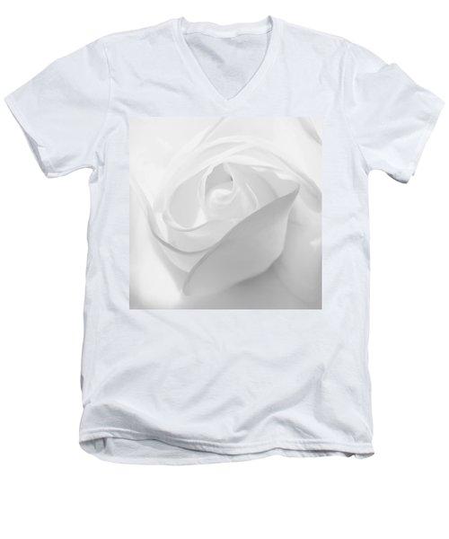 Purity - White Rose Men's V-Neck T-Shirt