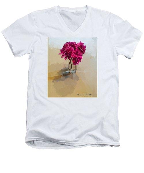 Purple Dahlias Men's V-Neck T-Shirt