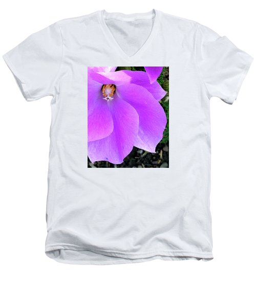 Purple Flower 1 Men's V-Neck T-Shirt