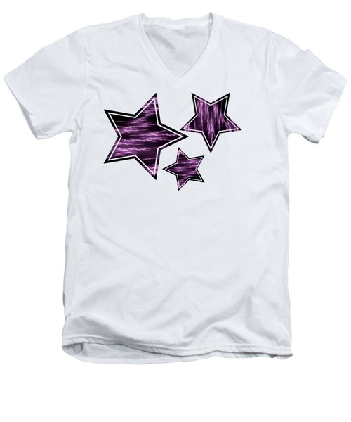 Purple Lightening Men's V-Neck T-Shirt