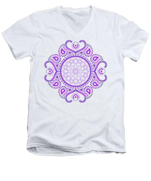 Purple Lotus Mandala Men's V-Neck T-Shirt