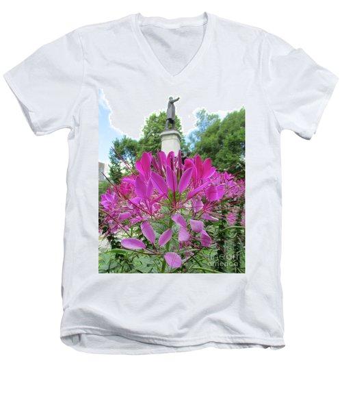 Purple Petals Men's V-Neck T-Shirt