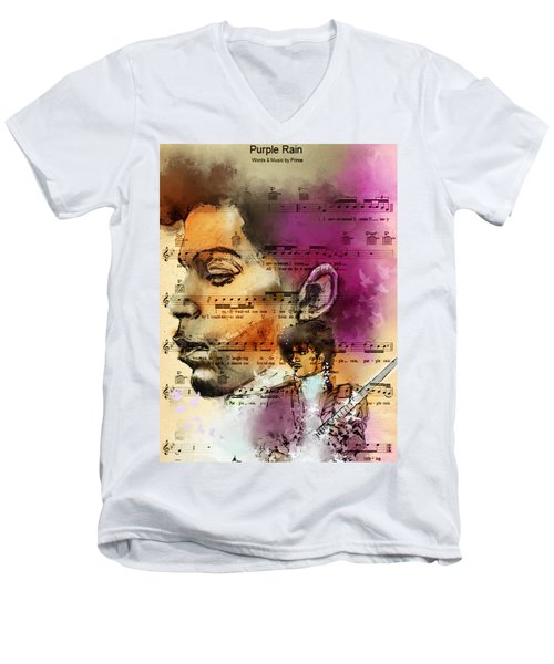 Purple Rain Forever Men's V-Neck T-Shirt