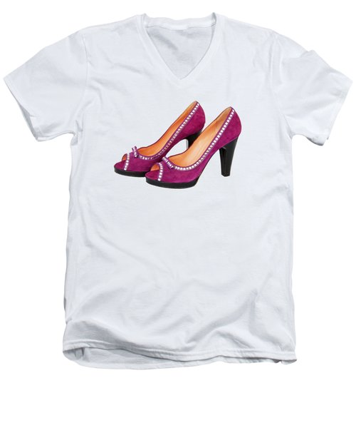 Purple Shoes Men's V-Neck T-Shirt