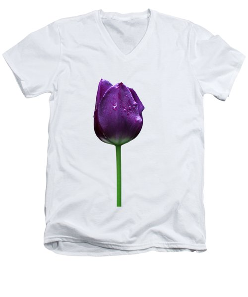 Purple Tulip T Men's V-Neck T-Shirt