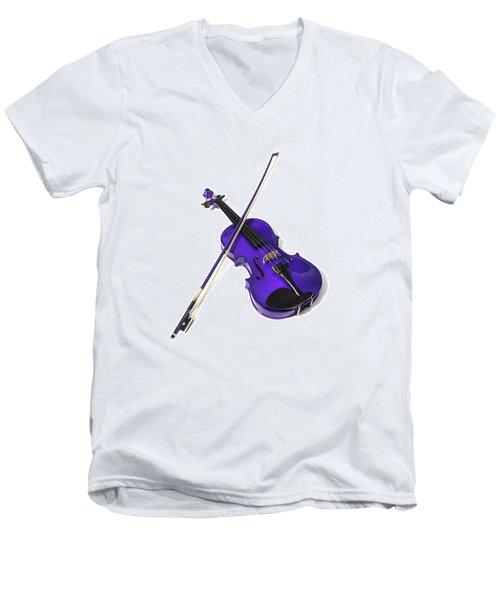 Purple Violin Men's V-Neck T-Shirt