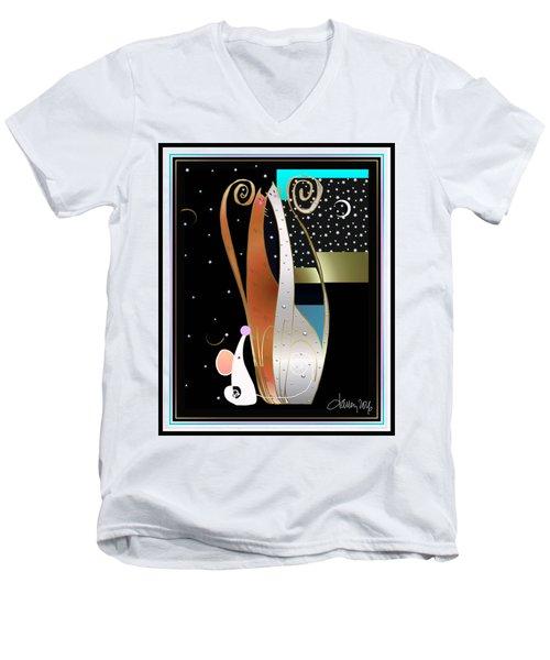 Purry Purry Night Men's V-Neck T-Shirt