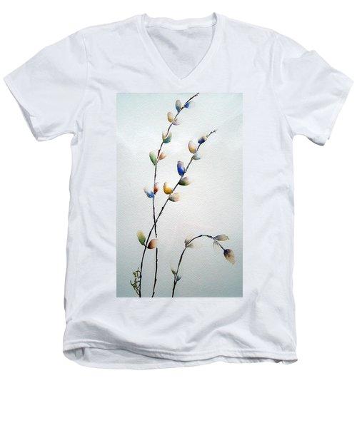 Pussy Willows Men's V-Neck T-Shirt