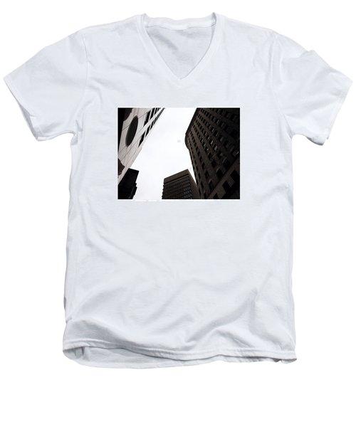 Overcast Downtown Men's V-Neck T-Shirt by Kate Arsenault