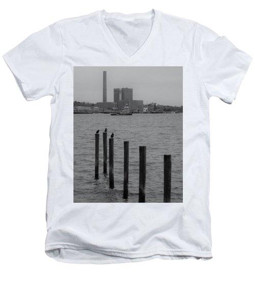 Q. River Men's V-Neck T-Shirt by John Scates