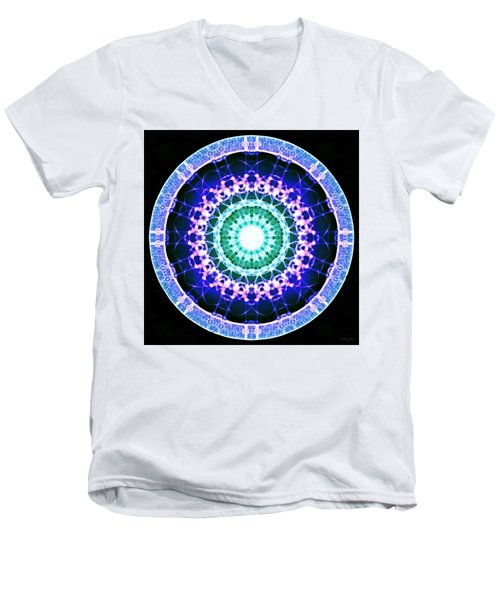 Men's V-Neck T-Shirt featuring the digital art Quadlife by Derek Gedney
