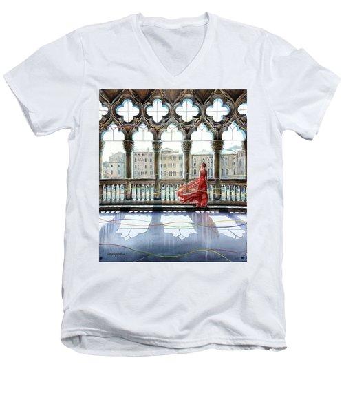 Quatrefoil Breeze Men's V-Neck T-Shirt