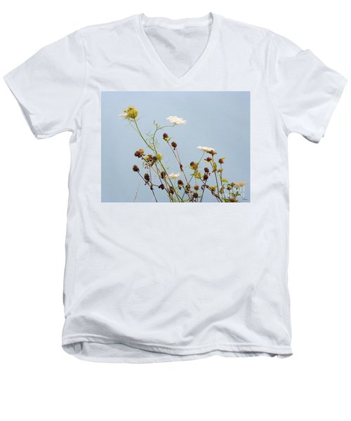 Queen Anne's Lace And Dried Clovers Men's V-Neck T-Shirt by Lise Winne