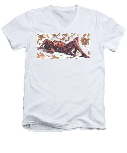 Queen In Gold II Men's V-Neck T-Shirt