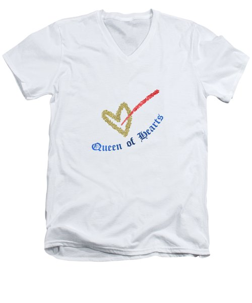Queen Of Hearts Men's V-Neck T-Shirt